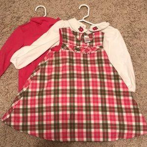 Gymboree dress long sleeved onesies
